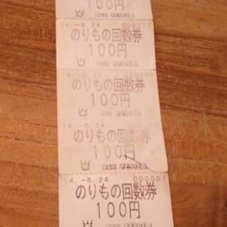 東条湖おもちゃ王国 乗り物回数券6枚