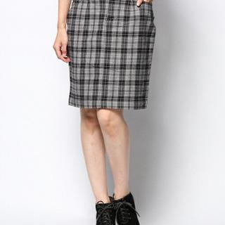 LOWRYSFARMスカート チェック ブラック