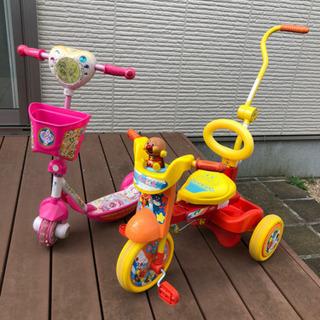 アンパンマン三輪車 スイート プリキュア キックボード(お取引お...