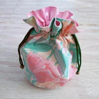 花柄の巾着袋