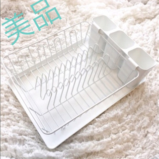 ikea 水切りラック 白 収納 スタンド かご 食器洗い用ボウル