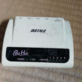 BUFFALO製5ポートHUB 10BASE-T PetitHu...