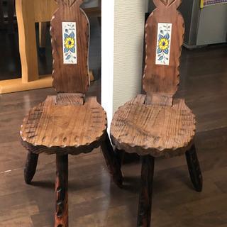 アンティークチェア 猫モチーフ 椅子 木製