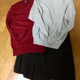 ユニクロ  カットソー  スカート セット  S〜M