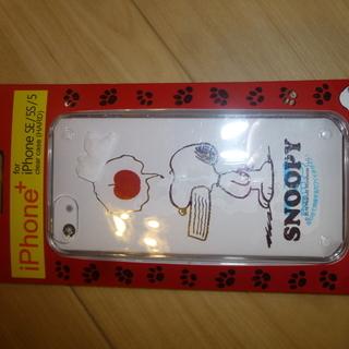 スヌーピー iPhone5.5s.SE用ケース 未開封品 クリア...