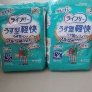 【未開封・新品】大人用紙パンツ(L)20枚入り×2