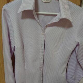 レディースワイシャツ  パープル(ポリエステル)