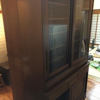 大型食器棚 H193cm×W120cm×D42cm 0円