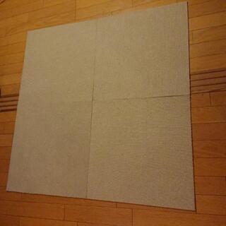 【値下げしました】タイルカーペット4枚(新品未使用品)
