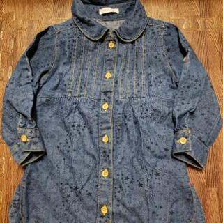 ♡⭐総柄デニムシャツ 90サイズ