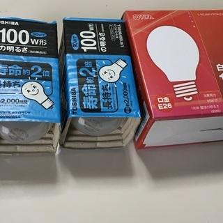 白熱電球 100W 4個 未使用品