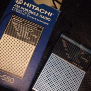 日立 ポータブルラジオ AM TH-550