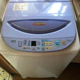 SUNYO洗濯機 6キロ 電解水カラリ脱水機能付き