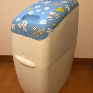 【限定柄】Aprica カートリッジ付きオムツゴミ箱