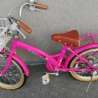 18インチ 自転車 女の子用 ピンク 子供用 補助輪あり