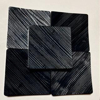 【美品】黒塗りのコースター5点セット