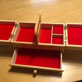 ソーイングボックス 木製