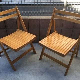 木製 折り畳みイス