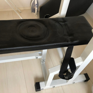 ベンチプレス ベンチ バーベル(ダンベル)重さ30キロ付き シャ...