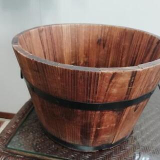 木製プランター 樽