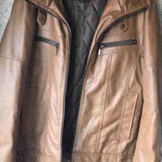 メンズ ハイブラウンカラー レザージャケット