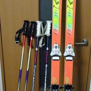 スキー板、ストック、キャリーケースセット (KASTLE RX)...