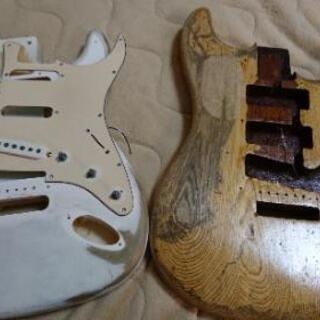 【取り引き終了】【ジャンク品】ギターボディ/ネック