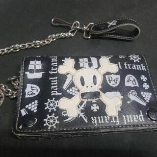 ポール フランク ドクロの2つ折り財布 15cm×10cm