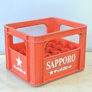 レトロ ビールケース 赤 SAPPORO サッポロビール アンティーク