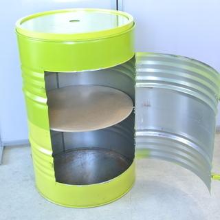 フランス製 珍しいドラム缶辻器 グリーン Pylones ピロー...