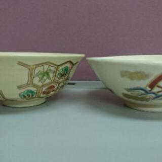 平茶碗 2点 まとめて 在銘 音羽山窯 京焼 茶道具 茶碗