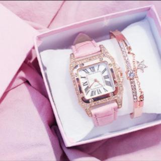 🎄プレゼントに! ブレスレット付き女性腕時計