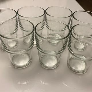 【値下げ】IKEAガラスコップ 7個
