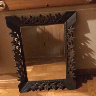 ミラー 鏡 木製フレーム