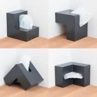 ブランド ティッシュケース ティッシュBOX白の画像