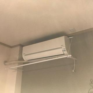 【取引中】エアコンハンガー 風で洗濯物を乾かす