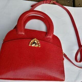 ウンガロ ハンドバッグ 赤 正規品