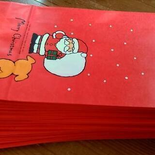 ②クリスマス用ラッピング紙袋80枚🎄パーティお菓子入れ等に