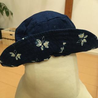 藍染 リバーシブル 帽子