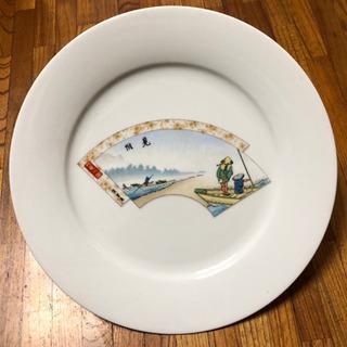 日本陶器会社 浮世絵白磁大皿 中古