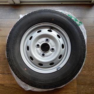 タイヤ・ホイールセット。中古。145R12 ダンロップ日本製