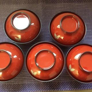 モリハナエ 蓋つき 汁椀 5客セット