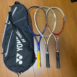 ソフトテニスラケット3本とバッグセット(軟式用)
