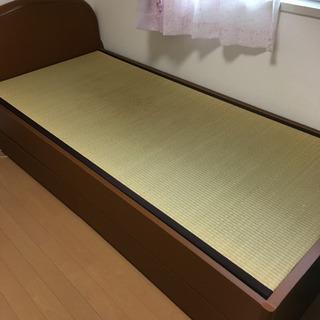 収納付き シングルベッド 畳