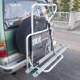 キャリア、自転車2台用、背面タイヤ用、4WD