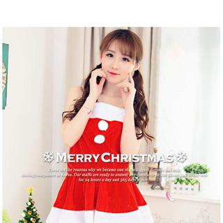 クリスマス サンタ レディース 衣装  4点セット