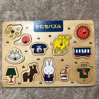木製ミッフィーかたちパズル