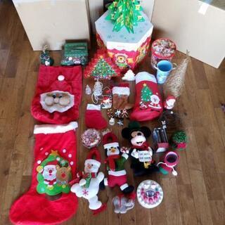 大量クリスマスグッズ サンタクロース靴下 ナイトメアービフォアク...