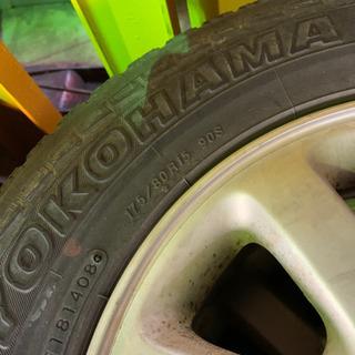 パジェロミニ純正アルミ付きサマータイヤ4本セット