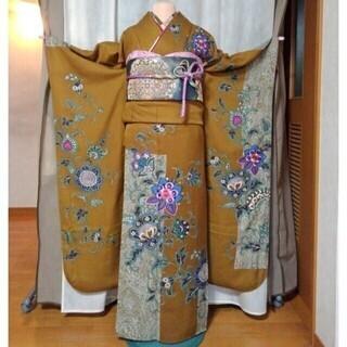 振り袖b「山本寛斎」、長襦袢、袋帯、小物セット